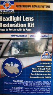 NEW PERMATEX HEADLIGHT LENS RESTORATION KIT ~ITEM# 09135~