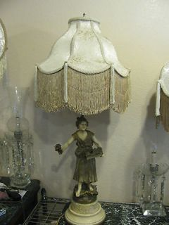 Victorian French Large Lamp Shade Poppy Creme de la Creme
