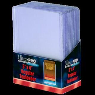 NIP Ultra Pro Box of 25 Regular Toploaders Plastic 12 Gauge Card