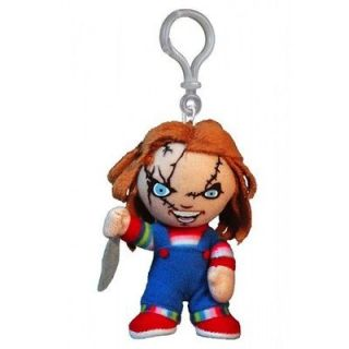 Cuddlers Childs Play movie CHUCKY Clip On Plush Doll by Mezco Toys