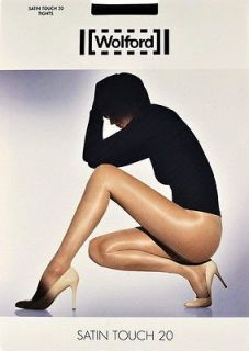 Wolford Satin Touch STW Tights Pantyhose   Large   Sand