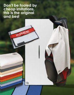 Club Glove Golf Caddy Microfiber Towel & Free Pocket Towel As used on