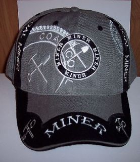 Newly listed Coal Miner Ball Cap Hat Pick & Shovel Design New