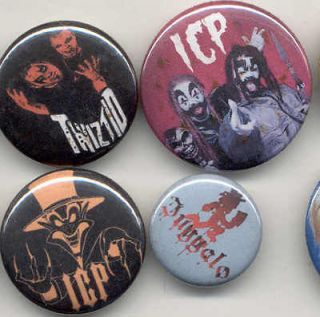 ICP Insane Clown Posse Twizted Juggalo buttons juggalette rap rock