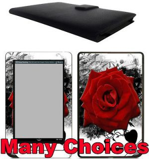 Nook Tablet / Nook Color Genuine Leather Case Cover Jacket +Skin