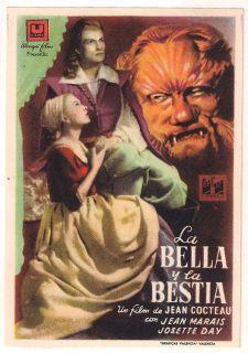 LA BELLE ET LA BETE JEAN COCTEAU SPANISH HERALD MINI POSTER