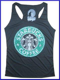 bc Lady Youth Top Shirt STARBUCKS COFFEE Thin SOFT COTTON free sz