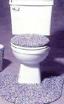 AP TOILET SEAT COVER bathroom toothbrush rag pattern