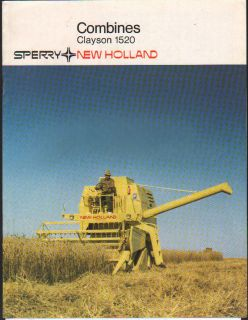 New Holland Clayson 1520 Combine Brochure Leaflet