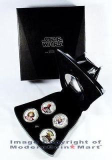 2012 Niue 4 Coin Silver Darth Vader Star Wars Proof Set in OGP