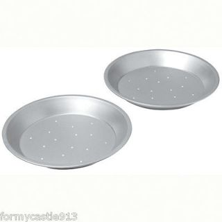Chicago Metallic Commercial Perforated 2 pc Pie Pan Set