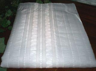 Wide 108 x 72 Plissé Luxury Coml/Hotel Fabric Shower Curtain~White