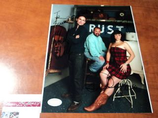 FRANK FRITZ MIKE WOLFE DANIELLE COLBY SIGNED   JSA COA G76994