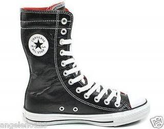 CONVERSE Chuck Taylor Black White Red Leather XHI 111155 Men Size