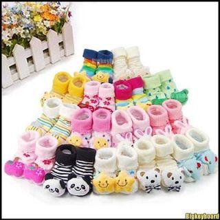 Unisex Cartoon Newborn Baby non slip Socks Slipper Shoes Boots