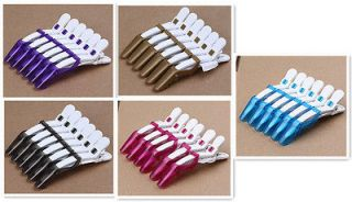 Hairdressing Pro Salon Clips Clamps Sectioning Hair Grip J0598