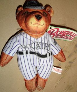 BEANSVILLE BUDDIES Colorado Rockies MLB Baseball TEDDY BEAR Bean Bag