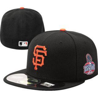 2012 MLB World Series San Francisco Giants New Era Black Hat Cap