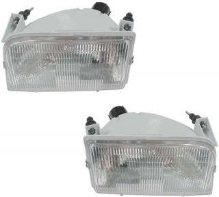1992 1996 FORD TRUCK BRONCO HEADLIGHTS LENS AND HOUSING PAIR R/L (Fits