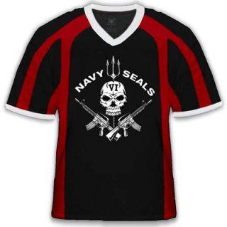 Navy Seal VI Crossed Machine Guns Skull Gothic Pride Veteran USA Sport