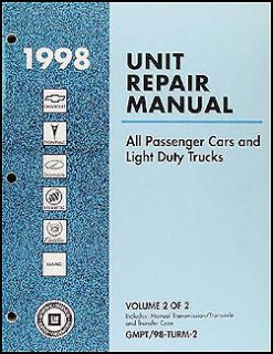 1998 Chevy Manual Transmission Overhaul Book CK Pickup Suburban Tahoe