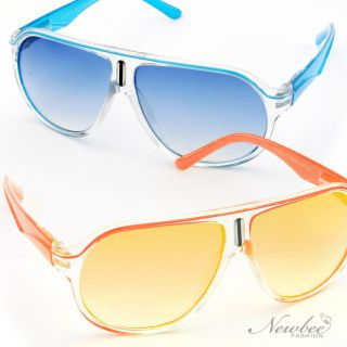 Cool Summer Neon Bright Color Sunglasses Colored Lenses Spring Hinges