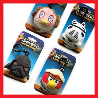 angry birds star wars plush doll backpack clip pendant whole height 5