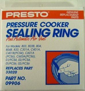 Presto Pressure Cooker Sealing Ring Gasket 09906