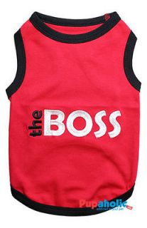 Pet Dog Clothes TShirt ★ THE BOSS ★ XS,XS,S,M,L,XL