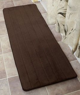 NWT! BATH MAT RUNNER RUG 4COLORS! 58 MICROFIBER MEMORY FOAM PLUSH NON
