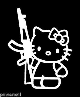 Hello Kitty AK47 Gun Rifle 6 Cool Car Truck Window Laptop Vinyl Decal
