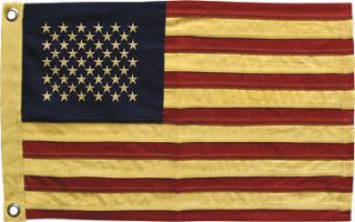 Tea Stained American Flag   Small 17 x 28