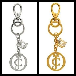 JUICY COUTURE LOGO KEYCHAIN KEY FOB CHOOSE YOUR COLOR SILVER OR GOLD