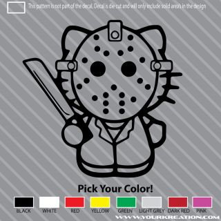 Say Hello To Jason Vorhees Kitty Die Cut Vinyl Decal 5 Friday The