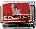 NEW YORK CITY Italian Charm Bracelet Link nyc liberty