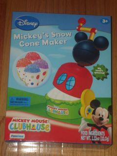 NEW OFFICIAL DISNEY MICKEY MOUSE SNOW CONE MAKER SET