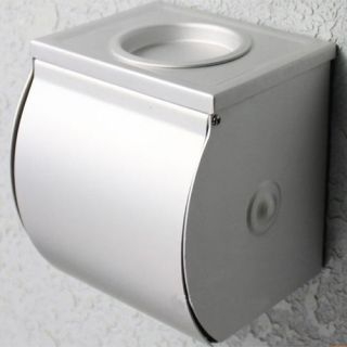 Bathroom Alumimum Toilet Paper Roll Tissue Container Covers Holder Box