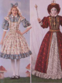 2325 New Misses Alice in Wonderland / Queen of Hearts Costume Pattern