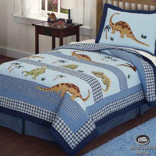Boy Children Kid Dinosaur Cotton Quilt Twin Full Queen Bedding Set