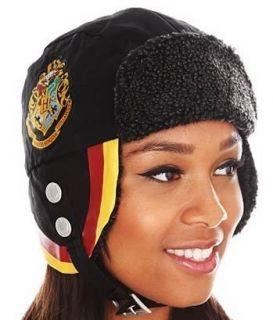 Harry Potter Hogwarts Crest Wooly Lining Pilot Cap Hat