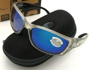 COSTA DEL MAR SUNGLASSES FISCH BLACK/SILVER MIRROR GLASS FS11 OSCGLP