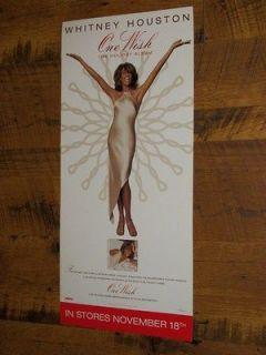 Whitney Houston One Wish Holiday Album 12 x 26 Rare 2003 Arista
