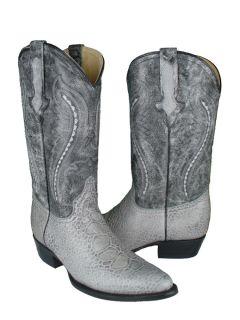 New CROCODILE/SEA TURTLE Print Design Cowboy Boots Mens