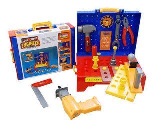 Plastic Children Tool Box Chest Jr. Engineer Workshop Construction Set
