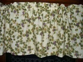 Valance Grapes french country kitchen cotton fabric curtain