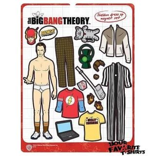 Big Bang Theory Sheldon Cooper Dress Up Magnet Set Licensed Fridge