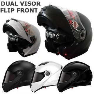 PLAIN COLOUR FULL FACE FLIP FRONT MOTORCYCLE MOTORBIKE CRASH HELMET