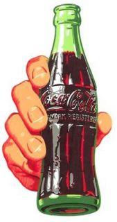 RARE Coca Cola 1960s Hand & Bottle Soda Decal ORIGINAL Restore Coke
