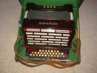 old Hohner  NORMA III Diadonic button Accordian accordion B
