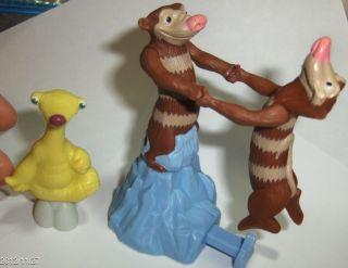 Bk Kids Ice Age Lot Sid Crash & Eddie Toy Action Figures Cake Topper